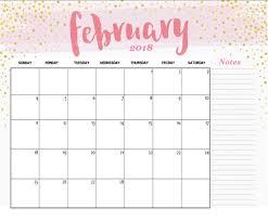 February 2018 Cute Wall Calendar