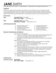 Psychology Undergraduate Resume Fresh Resume Template 22 Cover