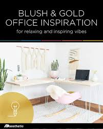 home office planning. Blush And Gold Office Inspiration \u2022 AD Aesthetic Home Planning