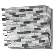 self adhesive wall tile metallik 6 pack