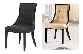 joyous cream leather dining chairs dennis futures chair dark genuine room