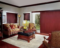 Beautiful red wood blinds