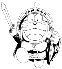 You can print, play doraemon coloring games or download them to color and offer them to your family and friends. Doraemon The Warrior Coloring Page Free Printable Coloring Pages For Kids