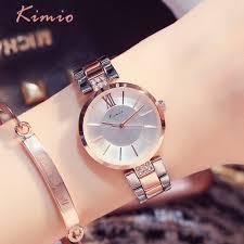 <b>KIMIO Simple</b> Thin Rhinestone Rose Gold Quartz Watches <b>Women</b> ...