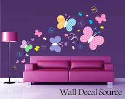 wall decals butterfly patterned butterfly wall decal vinyl butterfly wall  decor zoom wall decals . wall decals ...