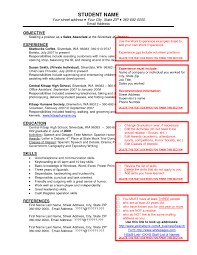 Free Resume Templates Sample Job Examples Of Format For With 87