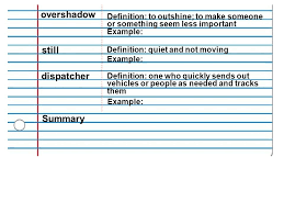 Theme 2 – Vocabulary 9 Mrs. Fendrick. Cornell Notes Use Only Blue Or ...