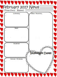 february newsletter template february newsletter template editable freebie by thoughts for tots