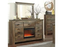 rustic look furniture. Signature Design By Ashley TrinellDresser With Fireplace Insert \u0026 Mirror Rustic Look Furniture