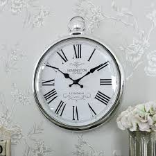 modern silver wall clock large silver wall clock chrome wall clocks large mirror silver frame of