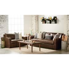 magnolia leather sofa our houzz