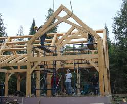 a timber frame house for a cold climate