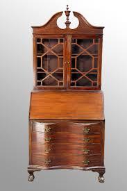 desks desk styles traditional antique drop front secretary desk with bookcase chippendale secretary desk value