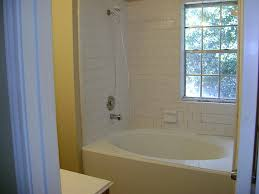 Goodly Design Tub Shower Combo Ideas Featuring Oval Shape Bathtub