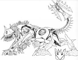 Dinosaurs Transformer Coloring Pages Print Coloring