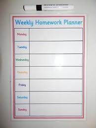 Weekly Homework Planner Details About Homework Planner Homemade A4 Laminated Planner Wipe Clean Ks3 Ks4gcse