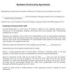 Partnership Proposal Samples How To Write A Partnership Agreement Business Partnership