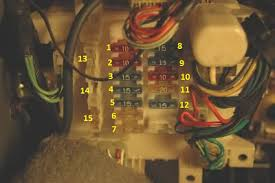 geo tracker fuse panel diagram fuse boxes bottom picture instrument panel fuse block 1 left headlight high beam indicator 10 amp