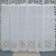 block sheer kitchen curtains tier cafe tier curtains blue stripes sunflower kitchen