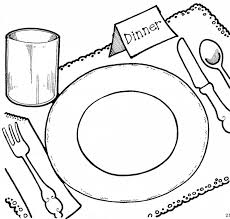 dining room table clipart black and white. Fancy Dining Room Table Clipart Black And White With O