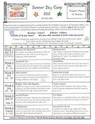 Childrens Museum Of Stockton Summer Camp 2012 Schedule