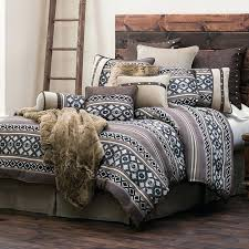 turquoise western bedding and beige mosaic turquoise western bedding triple star