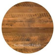 30 round reclaimed barn wood restaurant table top