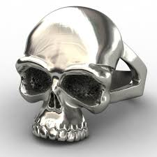 evbea newest skull snless steel skull ring for man personality biker jewelry whole factory