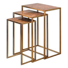 nesting furniture. uttermost copres oxidized nesting tables set of 3 furniture