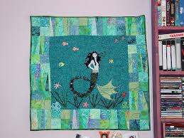 129 best Mermaid quilts! images on Pinterest | Mermaid quilt ... & Mermaid quilt #finweek Adamdwight.com