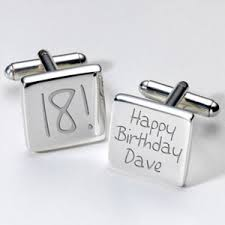 why not treat that young and their wardrobe engraved cufflinks 18th birthday