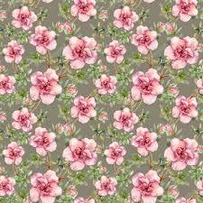 Roze Bloemen Naadloze Betegelde Bloemen Behang Aquarel Ontwerp Op
