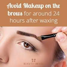 what to do after eyebrow waxing