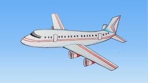 how to draw aeroplane step by step very easy