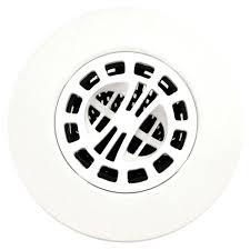 hair catcher shower drain cover in white