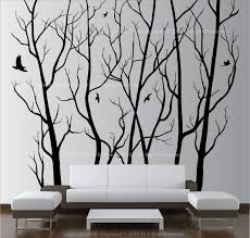 large wall art decor vinyl tree forest decal sticker (choose size