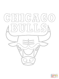 Small Picture Chicago Bulls Logo coloring page Free Printable Coloring Pages