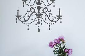 chandelier wall decal modern vinyl wall by singlestonestudios