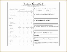 Survey Cards Templates Restaurant Comment Card Template Inspirational Free Churchrestaurant
