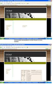 bank management system project report source code   screens of online bank management system project in java