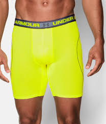 under armour 9 boxerjock. high-vis yellow, zoomed image under armour 9 boxerjock