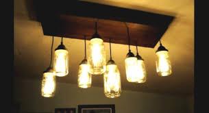 diy mason jar lighting. How To Make A DIY Mason Jar Chandelier With Wood | Https://diyprojects Diy Lighting