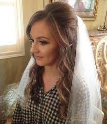 the 25 best wedding hairstyles veil ideas on pinterest wedding Down Wedding Hair And Makeup half up half down wedding hairstyles 40 stylish ideas for brides Wedding Hairstyles