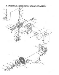 Maruyama bl230 parts diagrams engine carburetor recoil starter engine 20 carburetor