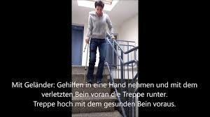 Beim treppauf oder treppab gehen, beim aufstehen aus der hocke, beim allgemeinen beugen. Sicher Treppen Steigen Nach Knie Op Youtube