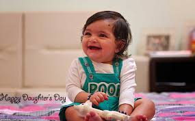 Happy Daughters Day Smiling Baby Girl Picture Images Pictures
