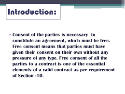 Contract Essential Elements Enchanting Free Consent Ppt Video Online Download