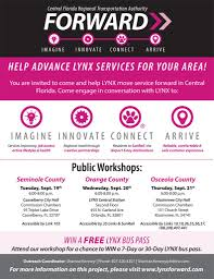 flyers orlando lynx public workshops on the future of central floridas bus service