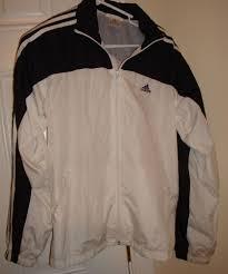 adidas windbreaker womens. women\u0027s adidas white black mesh lined windbreaker jacket   ebay womens