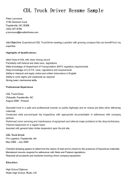 Truck Driver Resume Sample : CDL Truck Driver Resume Sample